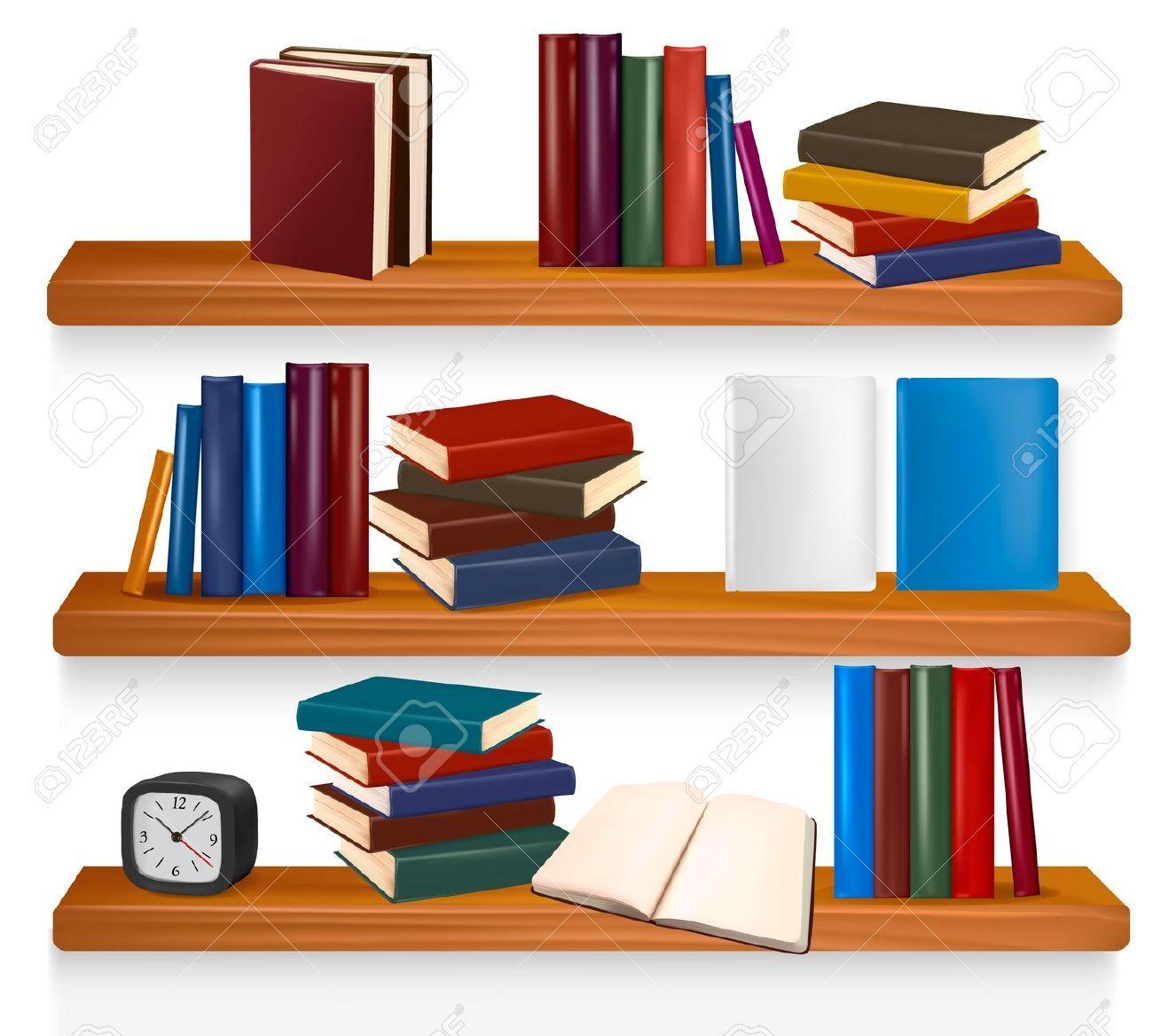 Book clipart self. Shelf clipground classroom clip