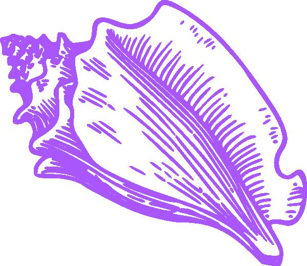 Conch clip art at. Shell clipart cartoon