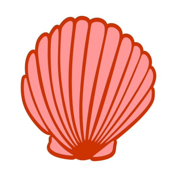 Shell clipart design. Seashell cuttable