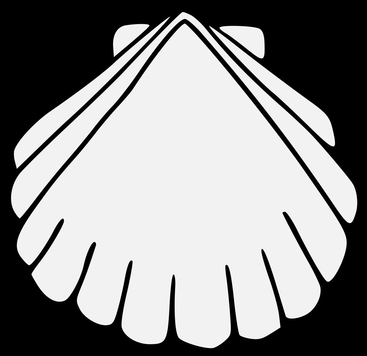Shell clipart escallop. Traceable heraldic art pdf