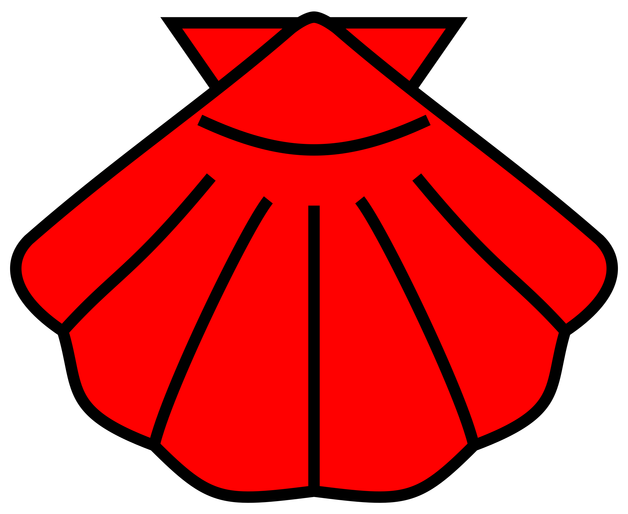File meuble h raldique. Shell clipart escallop