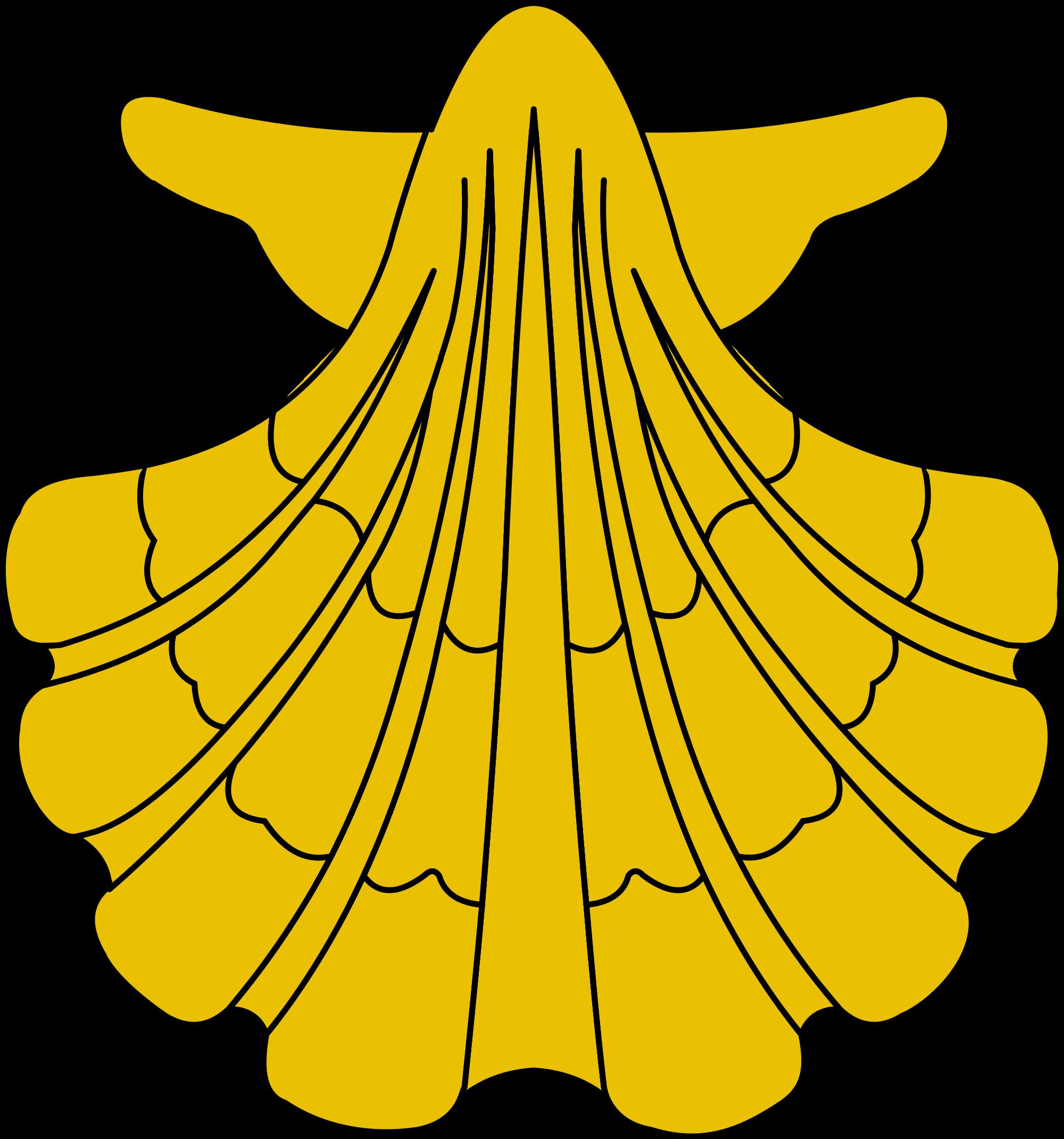 File heraldic svg wikimedia. Shell clipart escallop