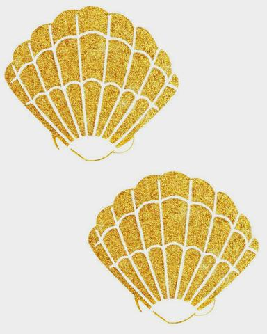 Shell clipart gold clipart. Free mermaid glitter download