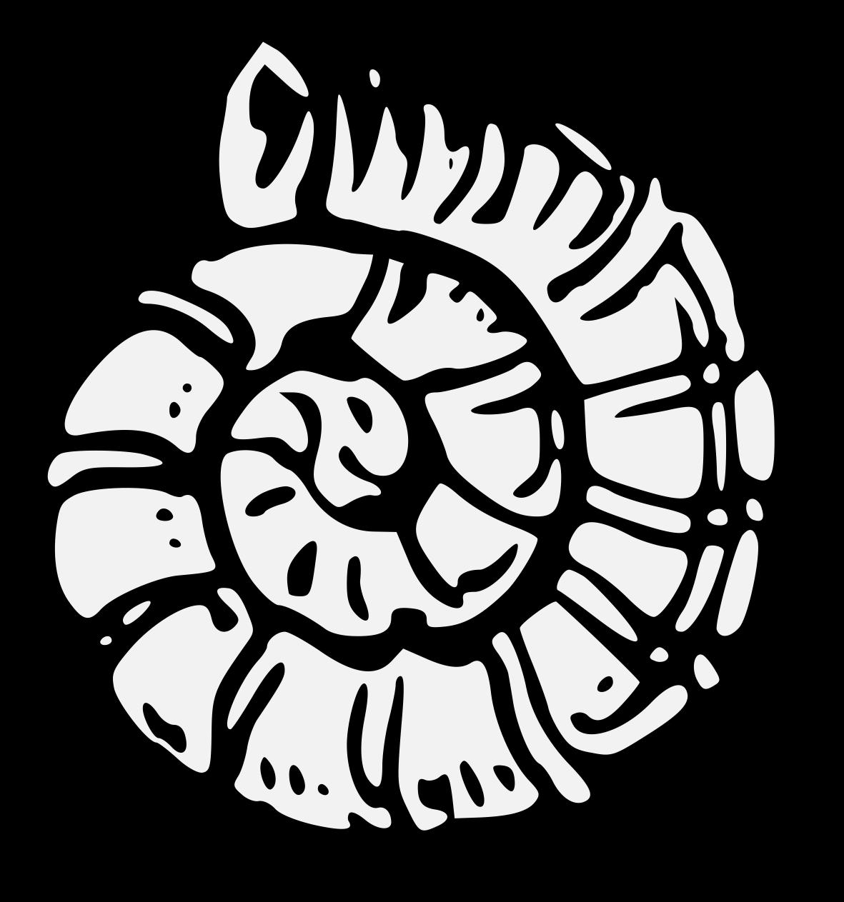 Shell clipart heraldic scallop. Traceable art pdf