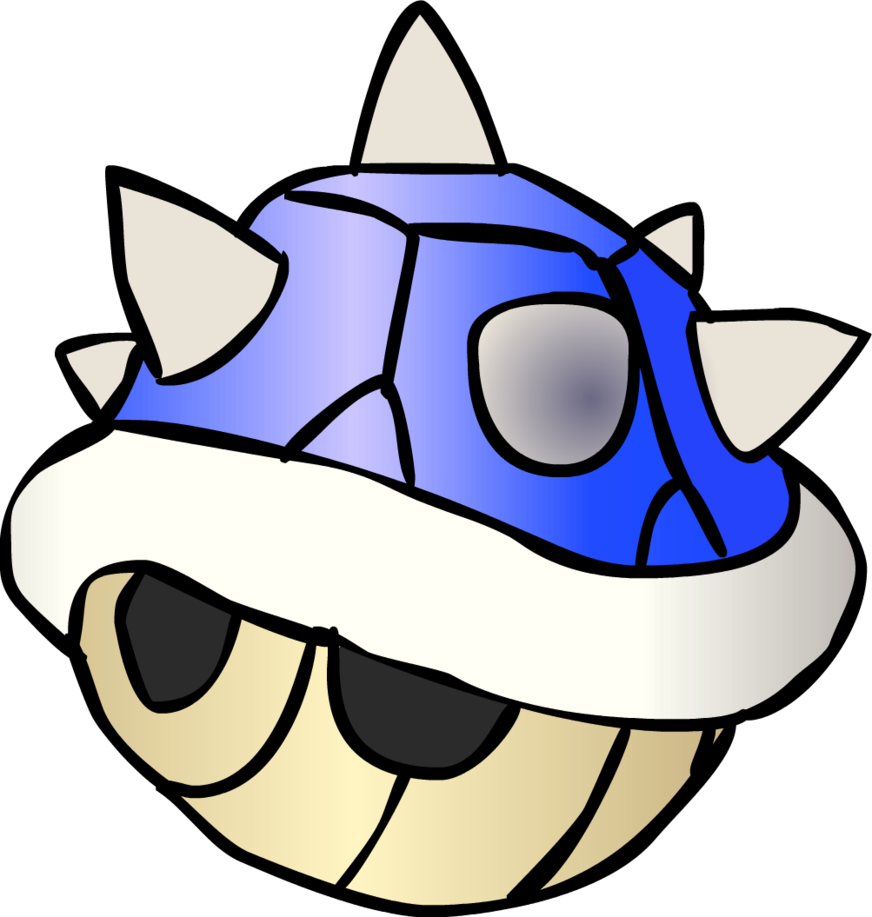 The dreaded blue spiny. Shell clipart horn