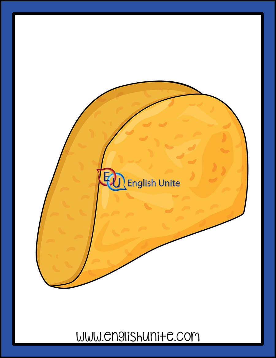 Single taco . Shell clipart one color