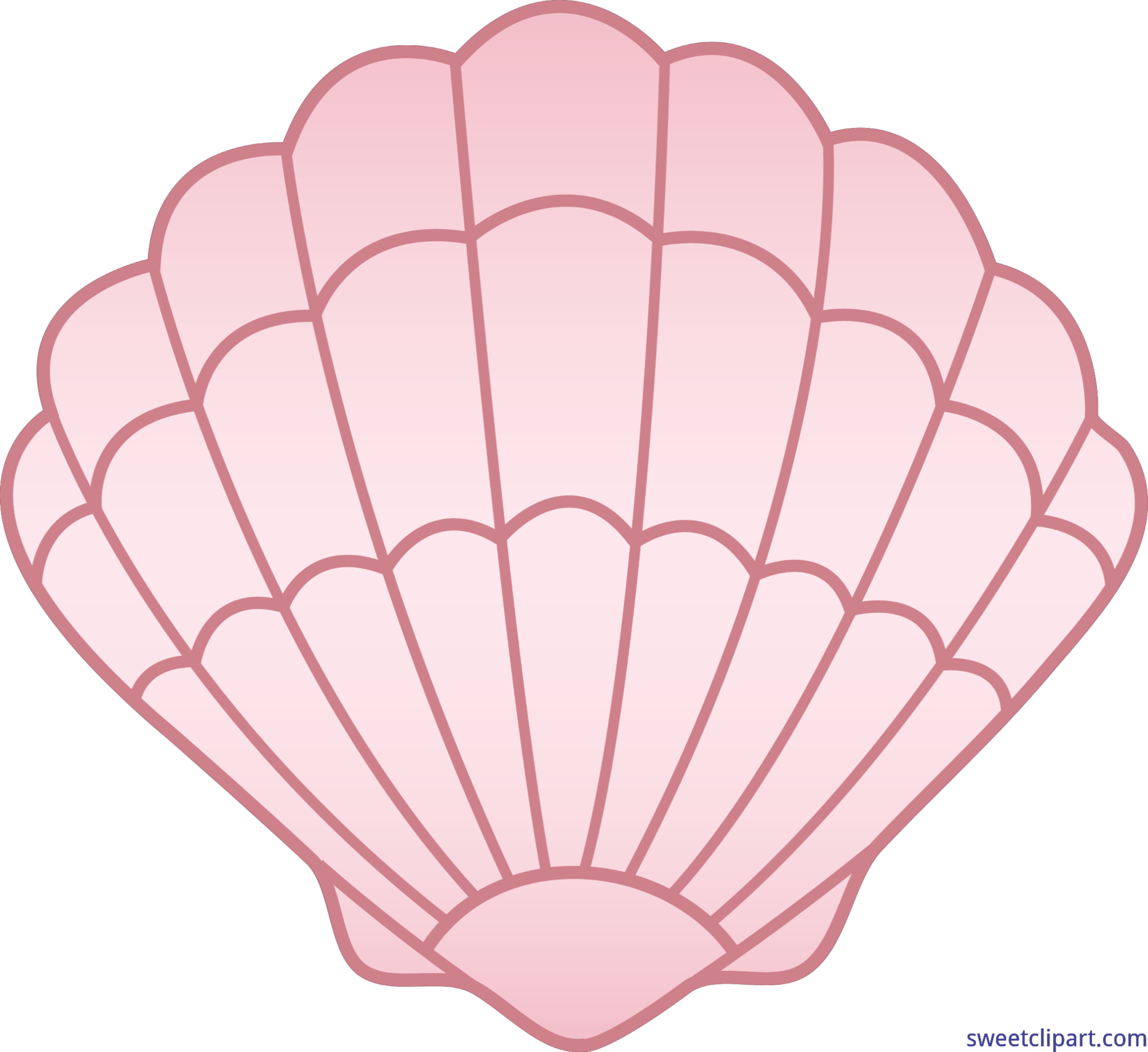 Shell clipart pink. Sea clip art sweet