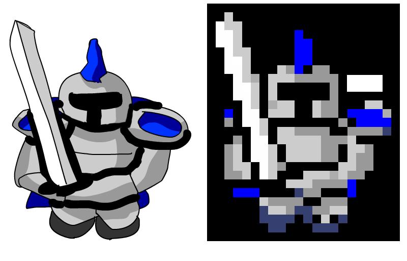 Shell clipart pixel. Pixelator examples