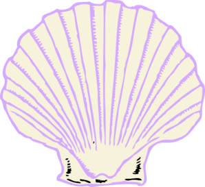 Clip art at clker. Shell clipart purple clipart