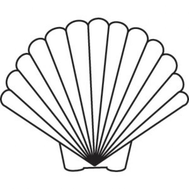 Free cliparts download clip. Shell clipart scallop stencil