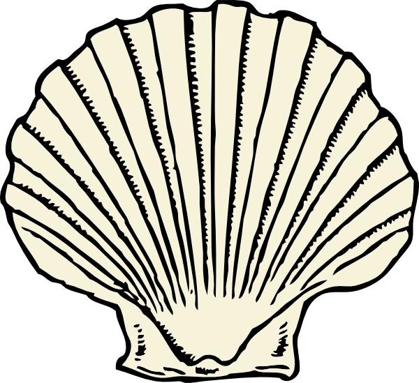 Clip art free vector. Shell clipart scallop symbol