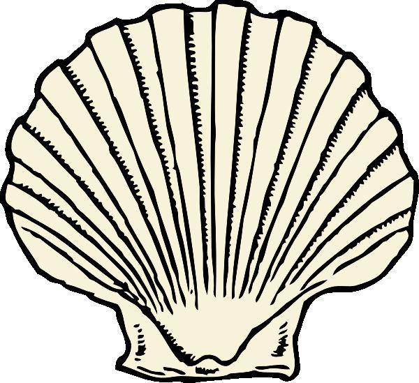 Shell clipart shape. Scallop clip art at