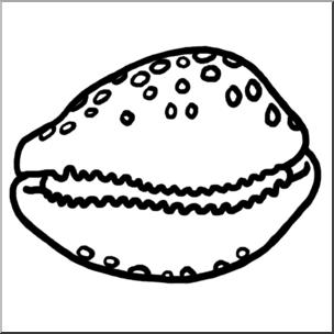Shell clipart shell cowrie. Clip art seashells b