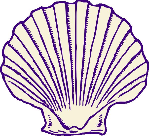 Shell clipart under sea. Purple clip art at