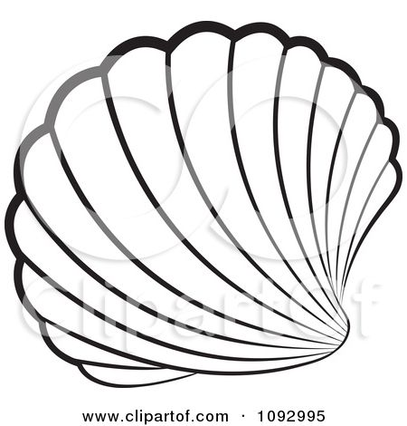 Shell clipart vector. Seashell stained glass patterns