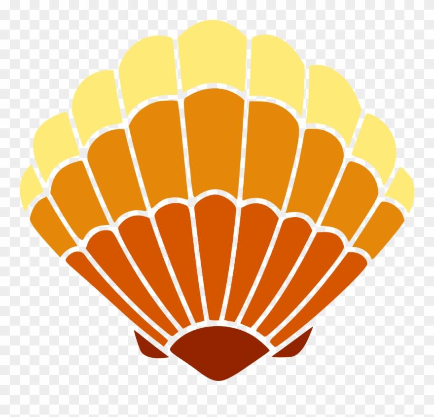 Seashell encapsulated postscript autocad. Shell clipart vector
