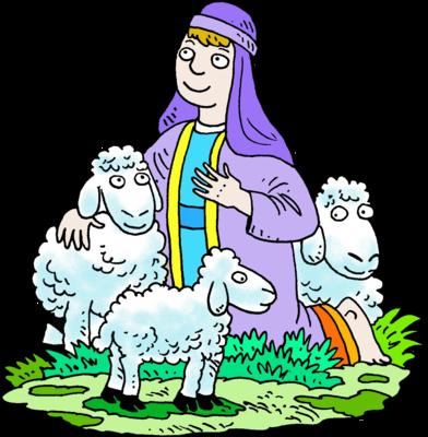 Clipart sheep shepherd. Image kneeling in purple