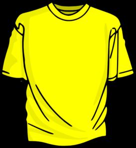 Yellow t shirt clip. Shirts clipart