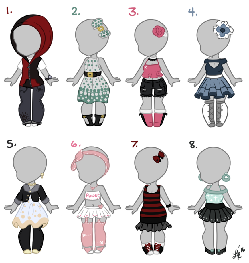 Outfits closed by mouse. Shirts clipart smelly
