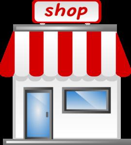 Bingo clipart merchandise. Shop front icon clip