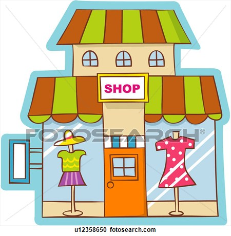 Dress . Shop clipart