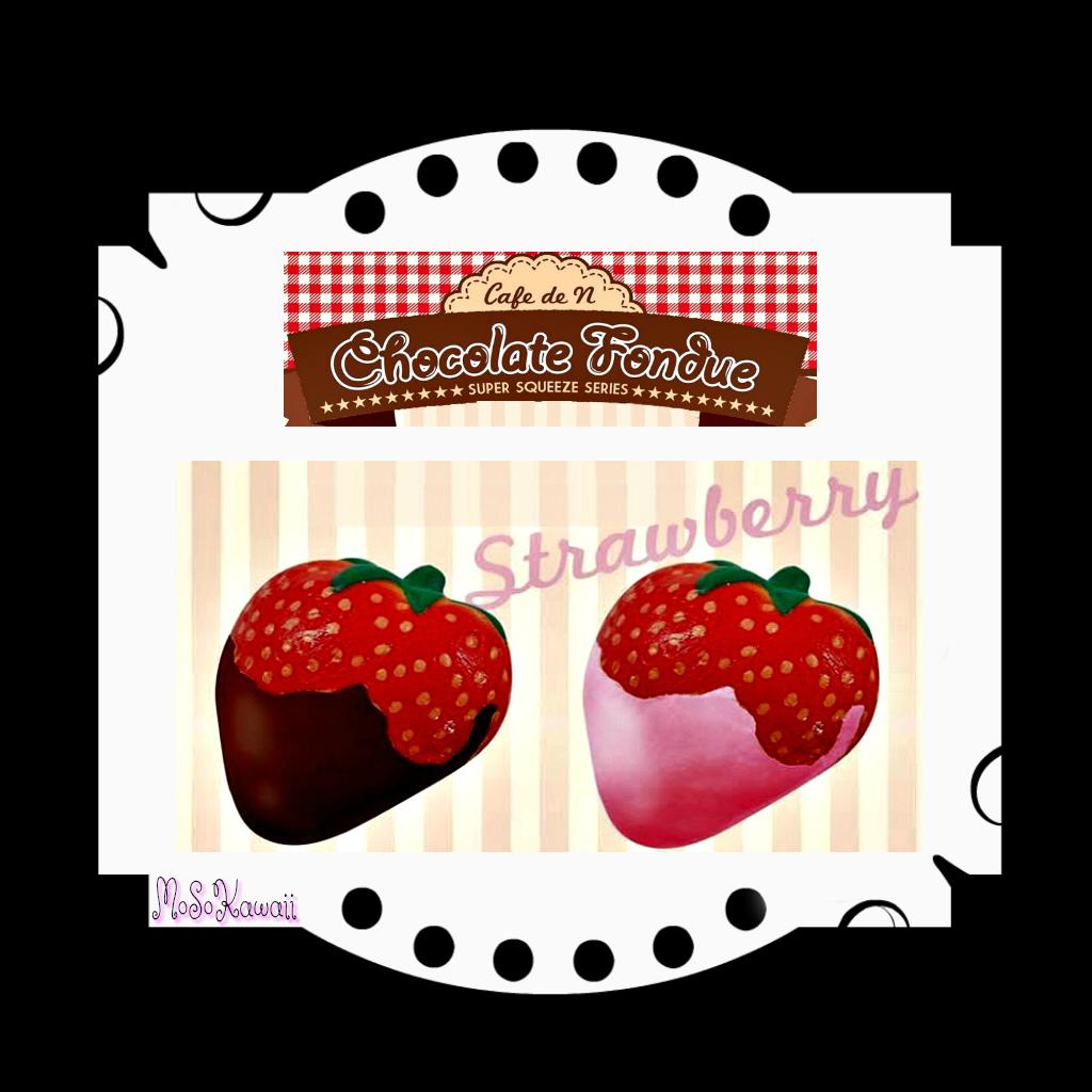 Strawberries clipart kawaii. Cafe de n chocolate