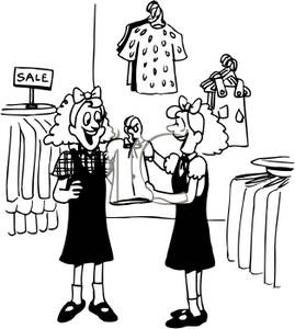Shop clipart crowded. Clothes shopping clip art