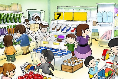 Shop clipart crowded. Divine blossoms family reunion