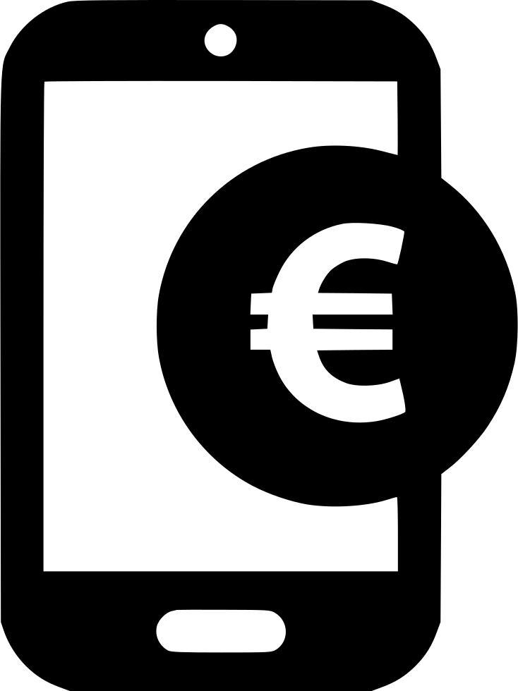 Shop clipart mobile shop. Euro sign coin pay