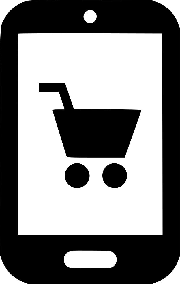 Shop clipart mobile shop. Cell phone cart svg