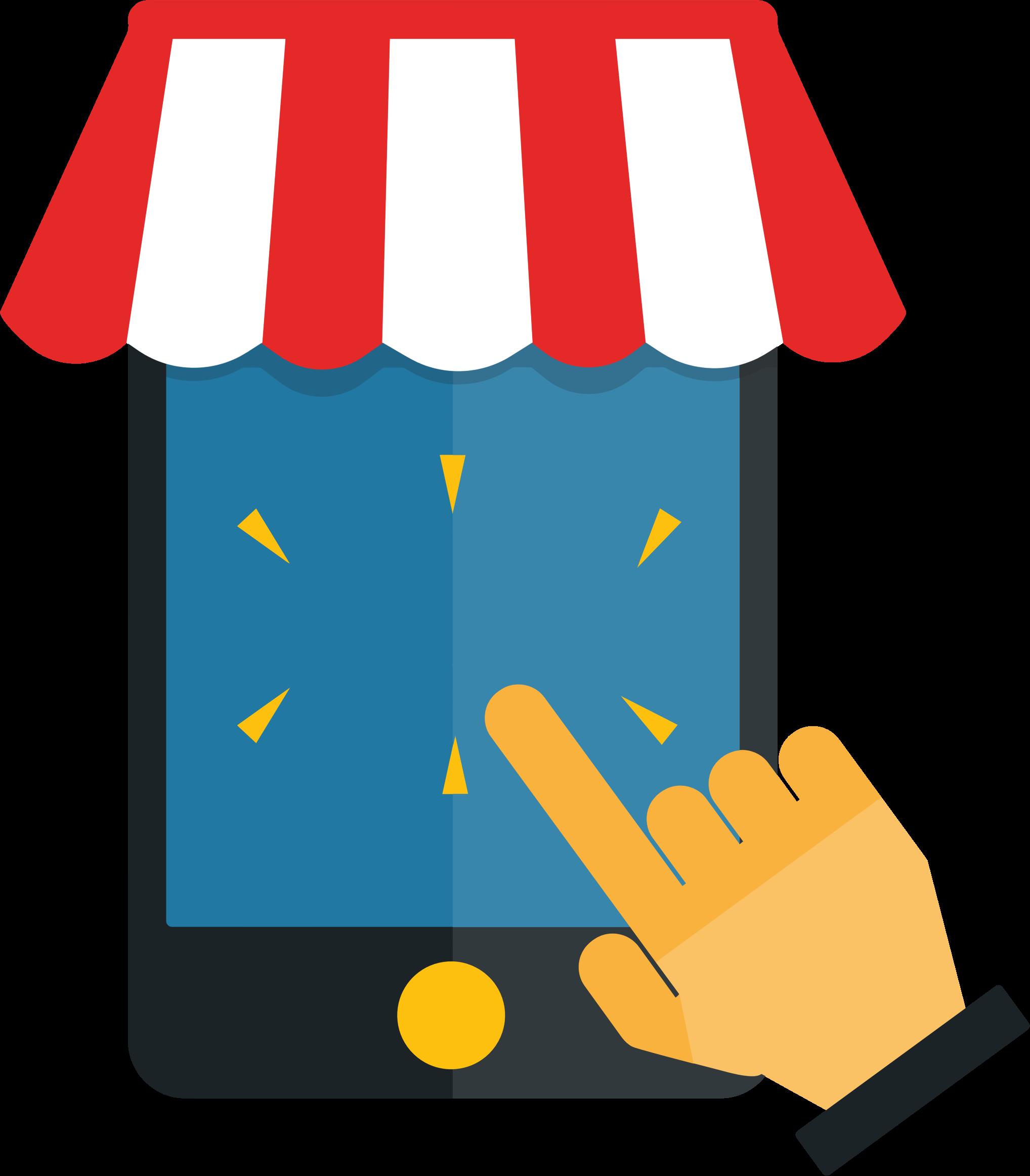 Shop clipart mobile shop. Shopping no text big