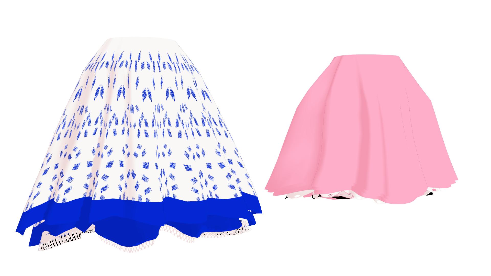 Short clipart blue skirt. Bottom skirts on miku