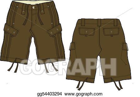 Short clipart brown shorts. Vector art men fashion
