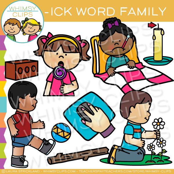 Short clipart family member.  ick word clip