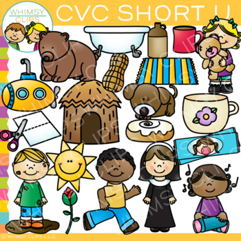 Cvc clip art u. Short clipart family member