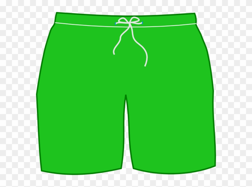 Green swim shorts clip. Swimsuit clipart short trousers