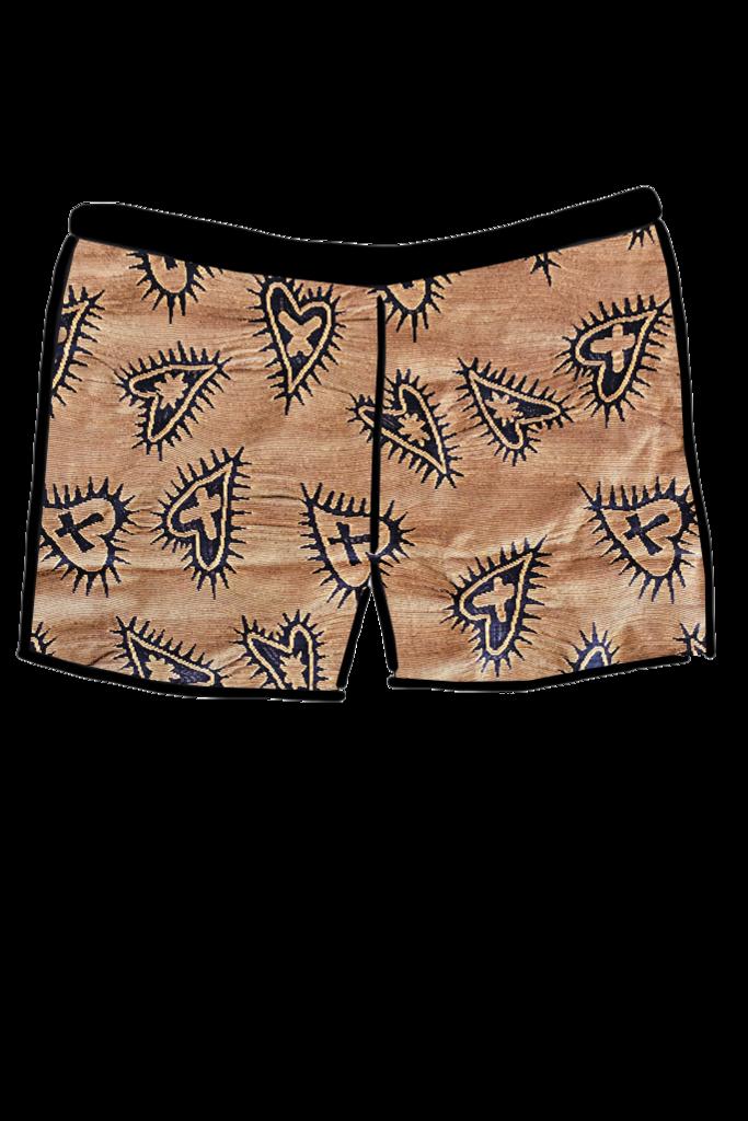 Short clipart pair shorts. Jacquard hearts swimwear boyleg