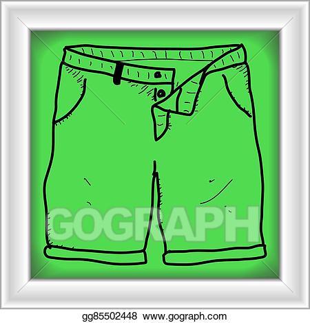Vector stock simple doodle. Short clipart pair shorts