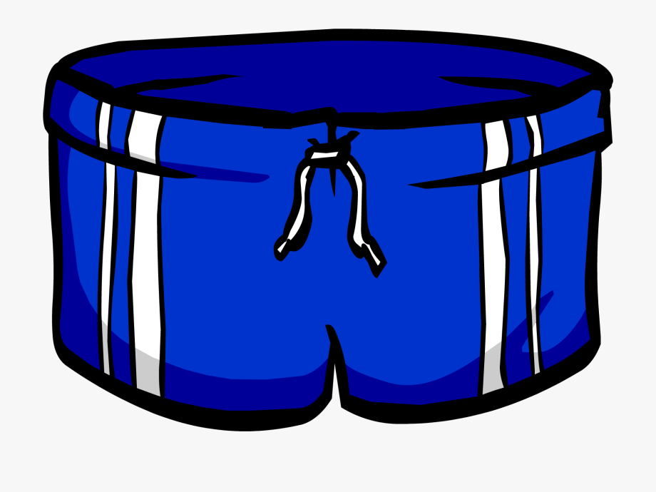Swimsuit clipart short trousers. Trunk blue clip art