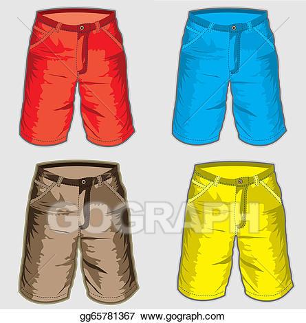Short clipart shorts bermuda. Vector stock pant clip