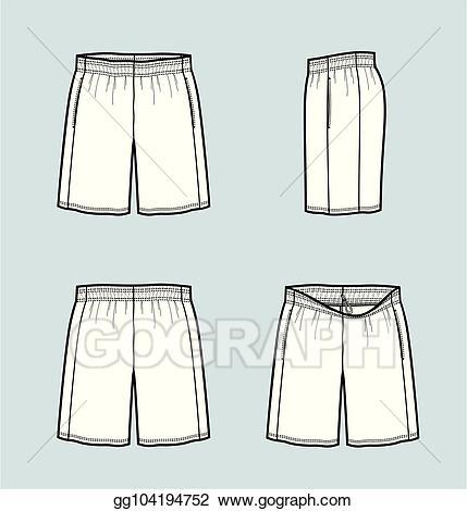 Vector stock basketball illustration. Short clipart sport shorts