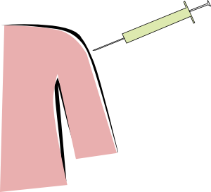 Flu vaccine clip art. Shot clipart
