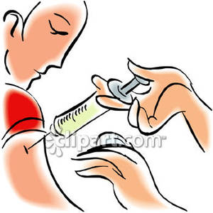 People getting shots . Shot clipart
