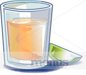 Glass cocktail. Shot clipart