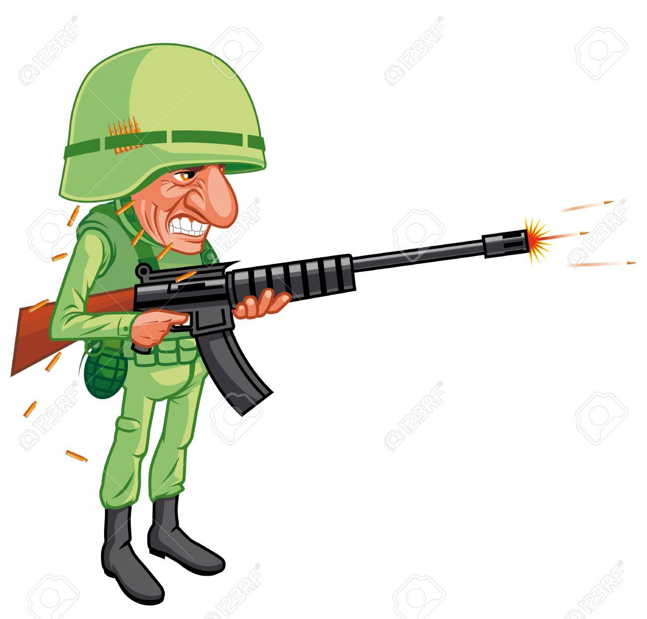 Gun soldier free on. Shot clipart