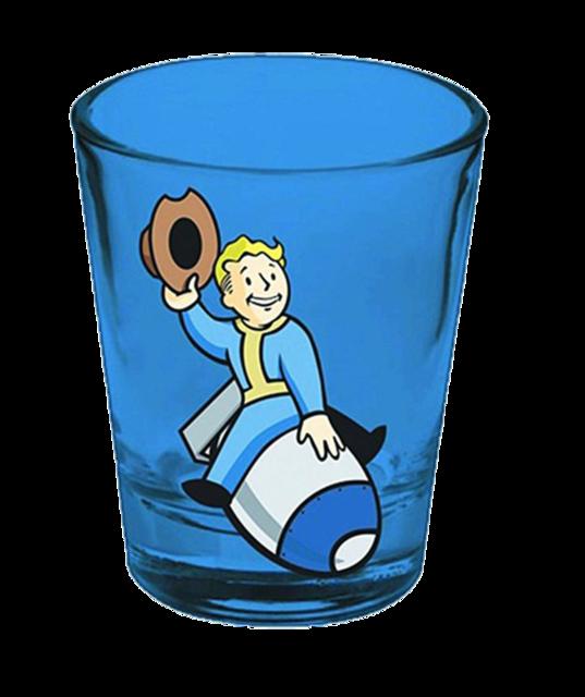Fallout blue random sh. Shot clipart glass tumbler