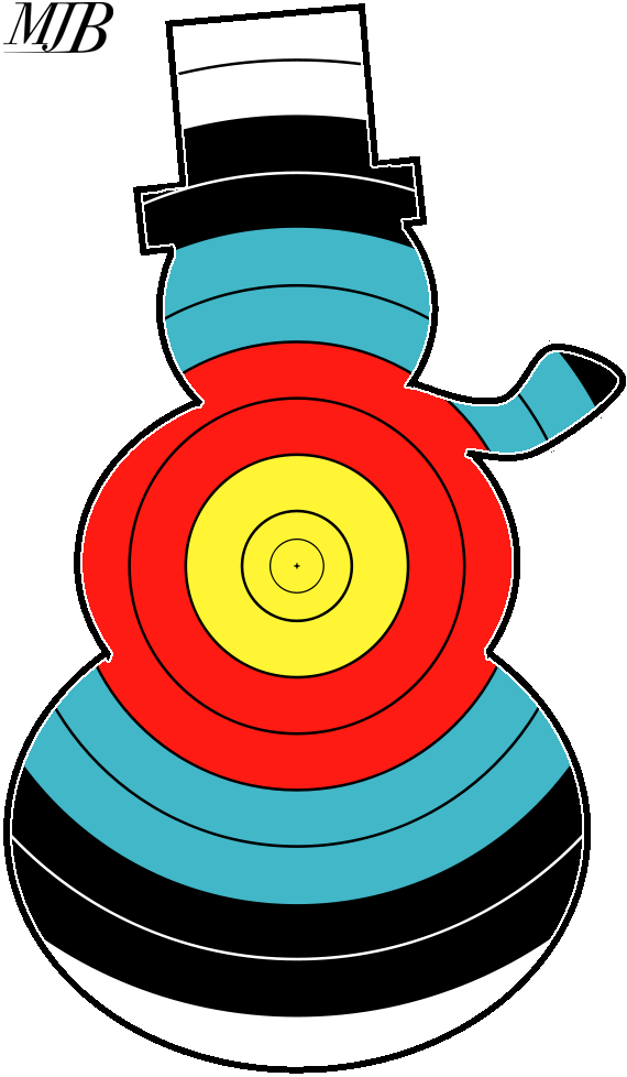 Archery faces calcresult festive. Shot clipart shooting target