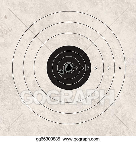 Shot clipart shooting target. Drawing shoot missing one