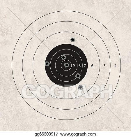 Shot clipart shooting target. Shoot missing stock illustration