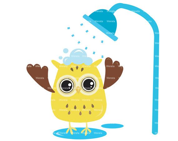 Items similar to owl. Showering clipart